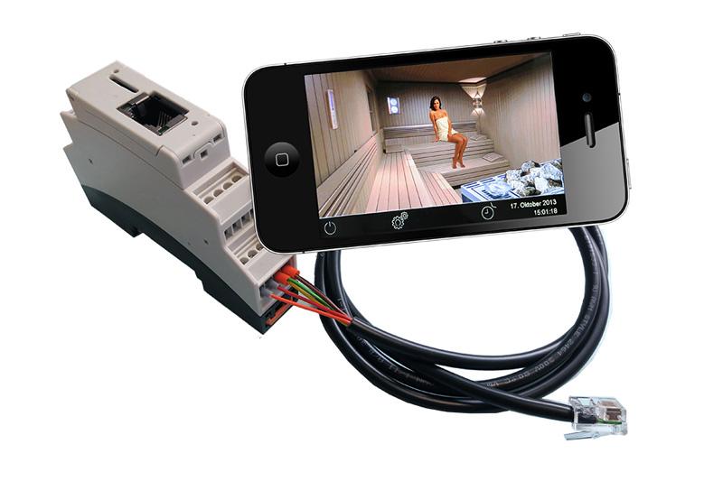 Moduł do sterowania sauną za pomocą tabletu lub smartfona