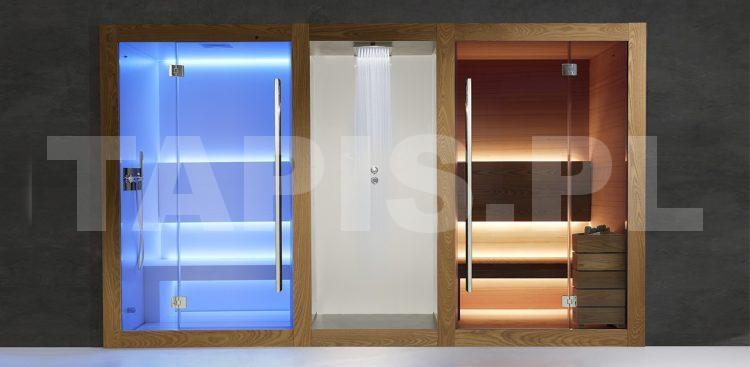 Centrum Wellness: łaźnia parowa, kabina prysznicowa i sauna fińska.